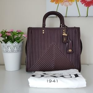 Coach Rogue with Quilting and Rivets in Oxblood
